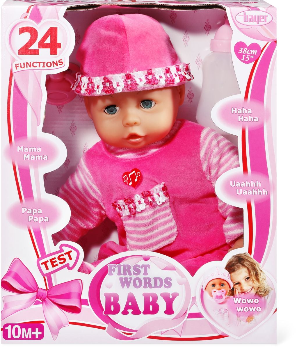 Bayer First Words Baby Poupée fonctionnelle 30 cm