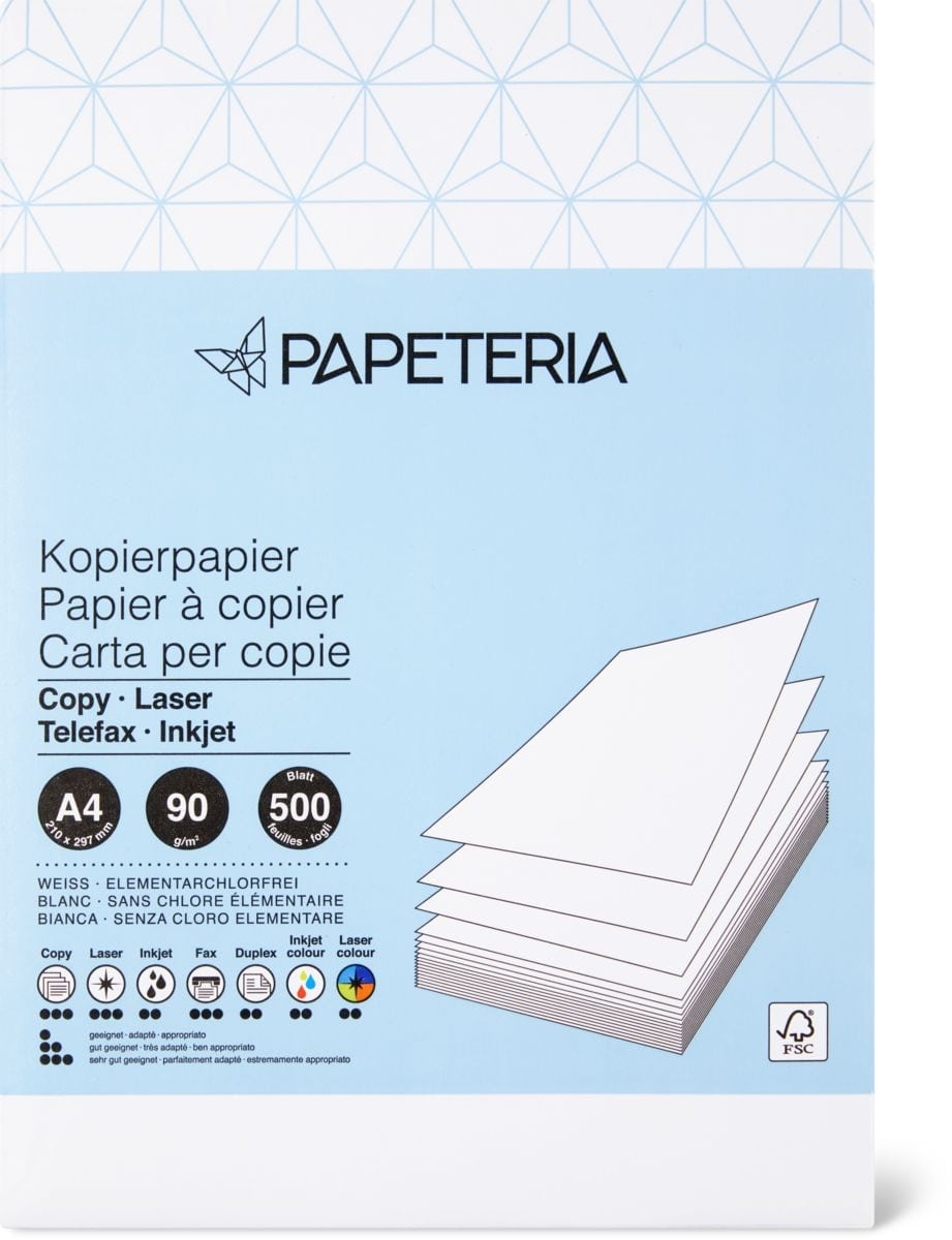 Papeteria Copy Paper A4 bianco 90g/m2