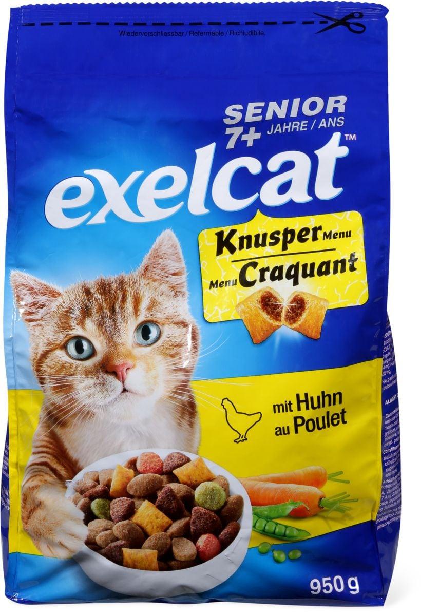 Exelcat Knusper Menu Senior mit Huhn