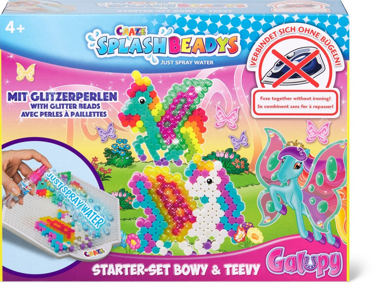 Craze Splash Beadys Starter-Set Bowy Set di bricolage