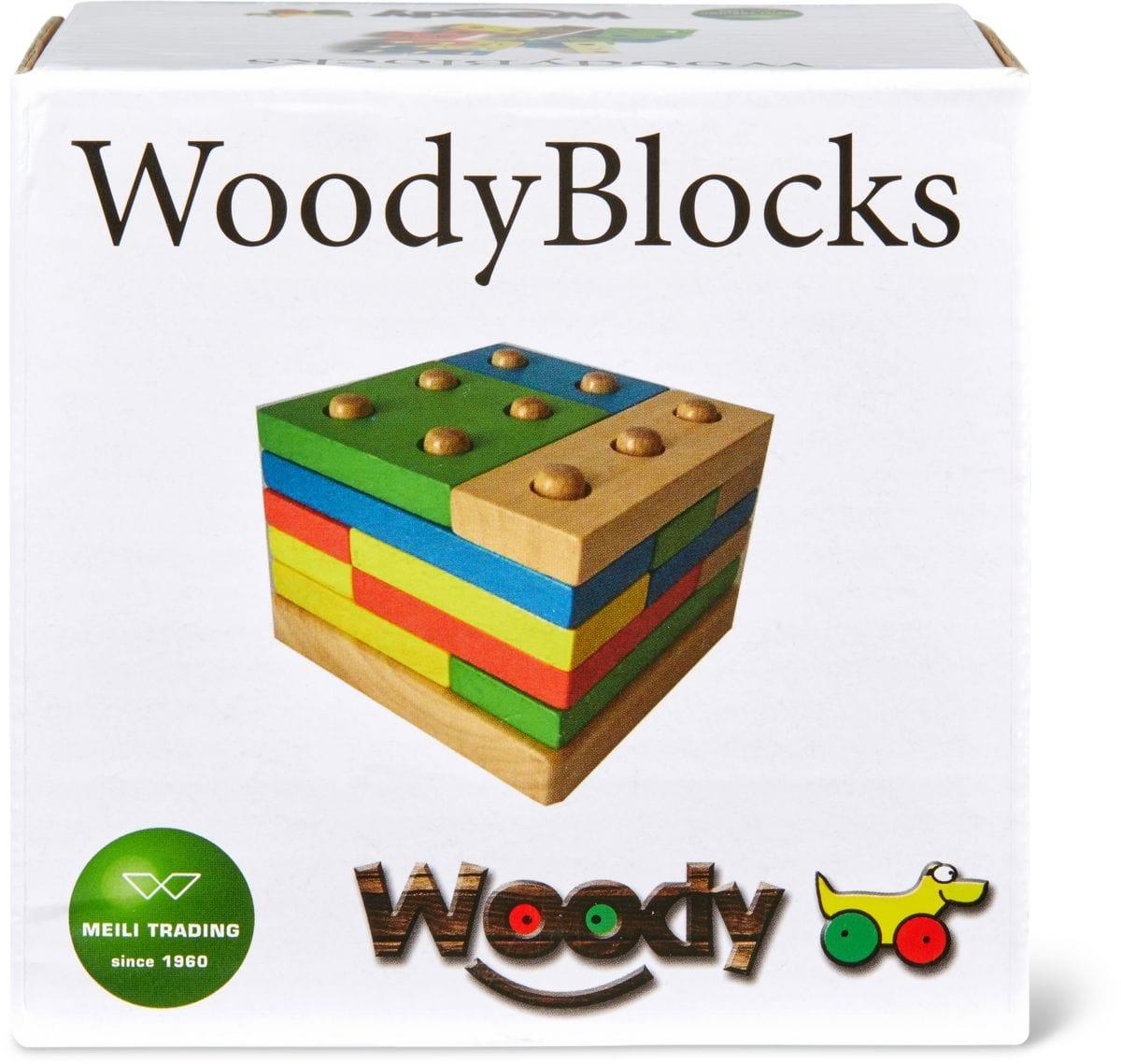 Woody Farbige Bauklötze  (FSC) Spielset
