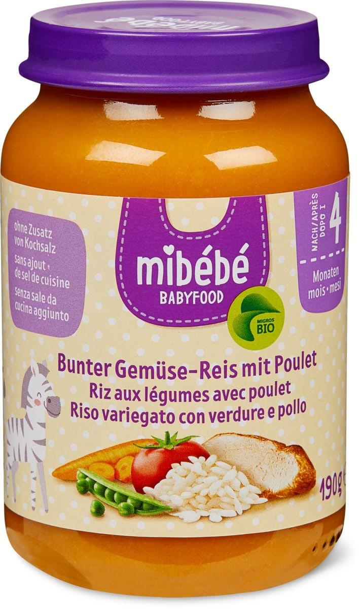 Mibébé Gemüse-Reis mit Poulet