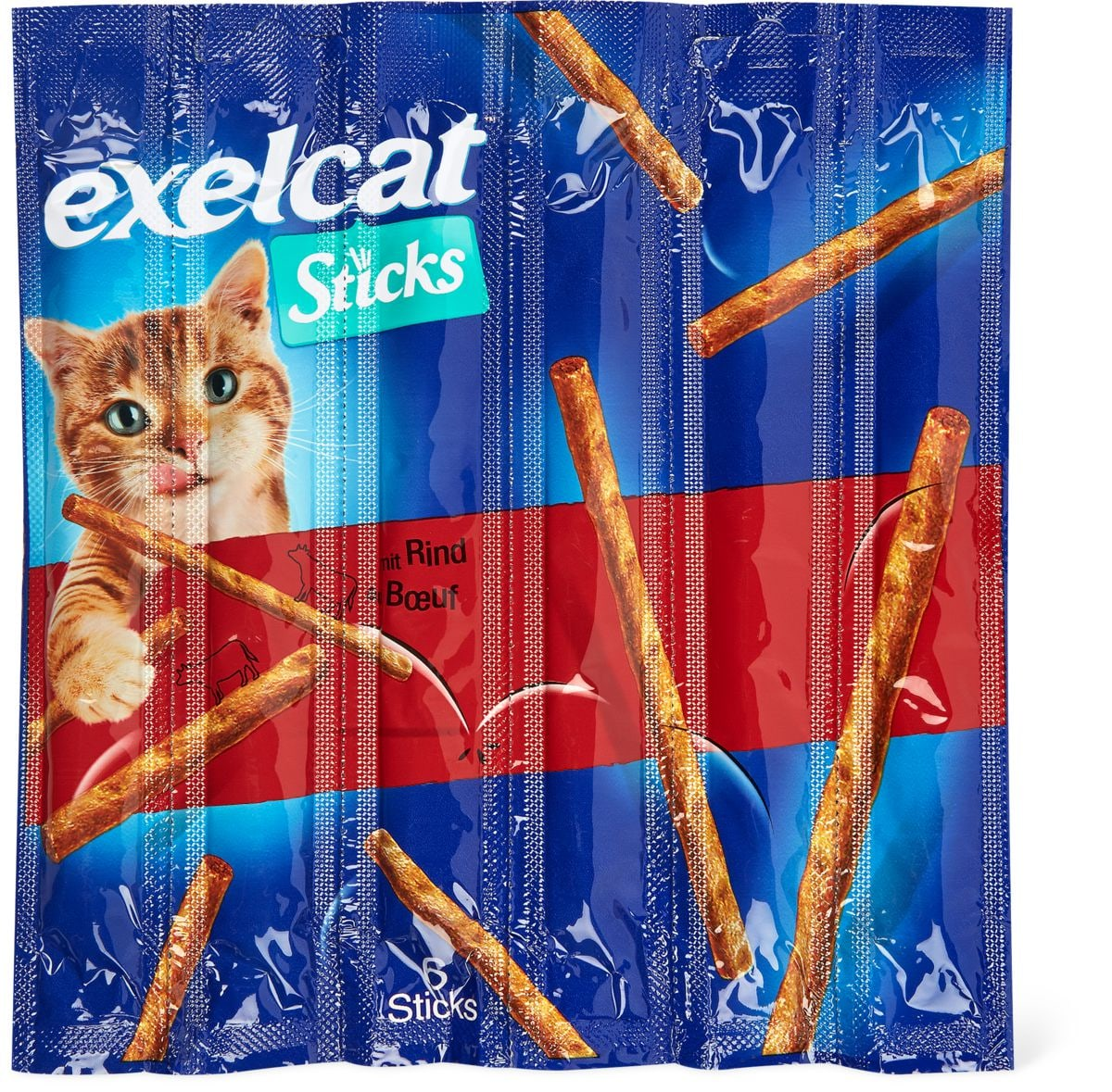 Exelcat Sticks manzo