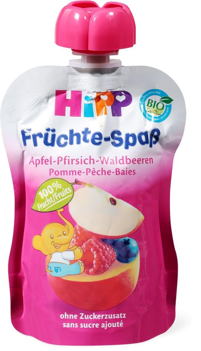 HiPP Quetschbeutel Apfel-Pfirsich-Waldbeeren