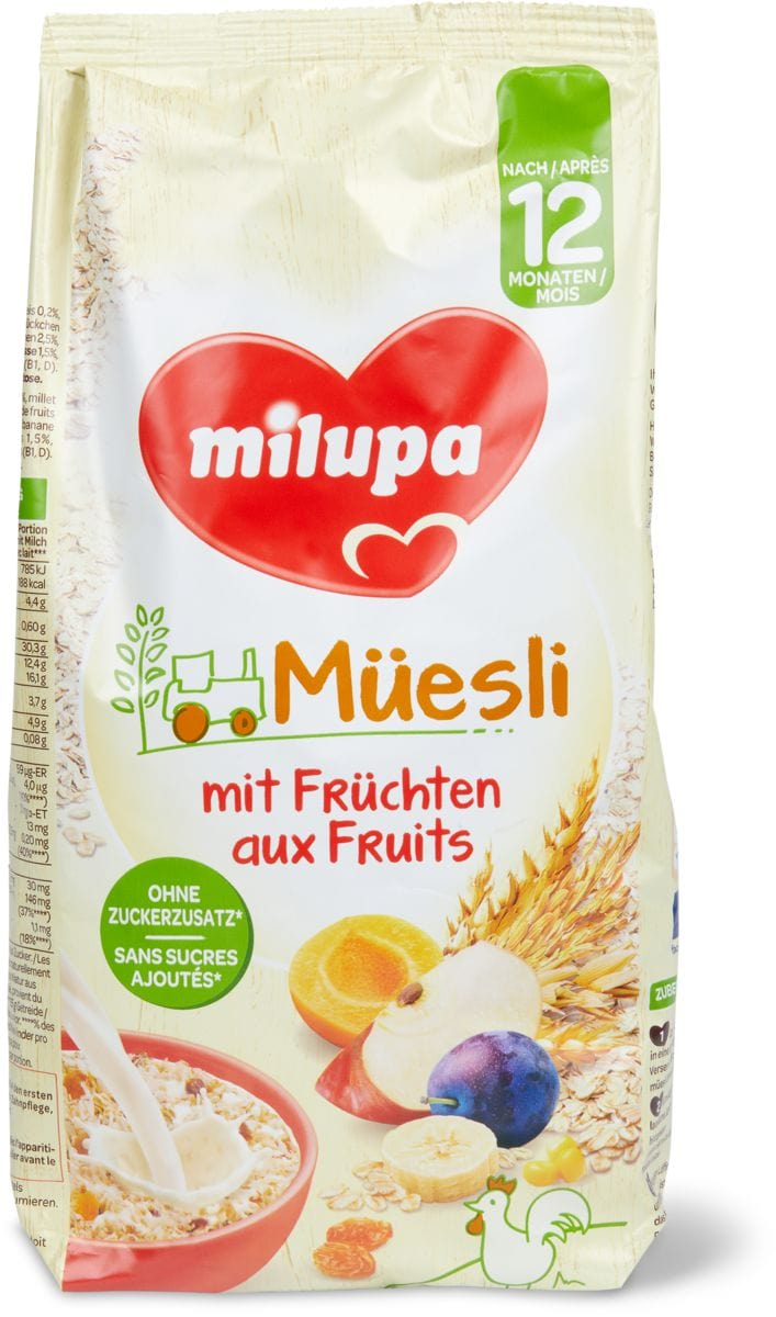 Milupa müesli aux fruits