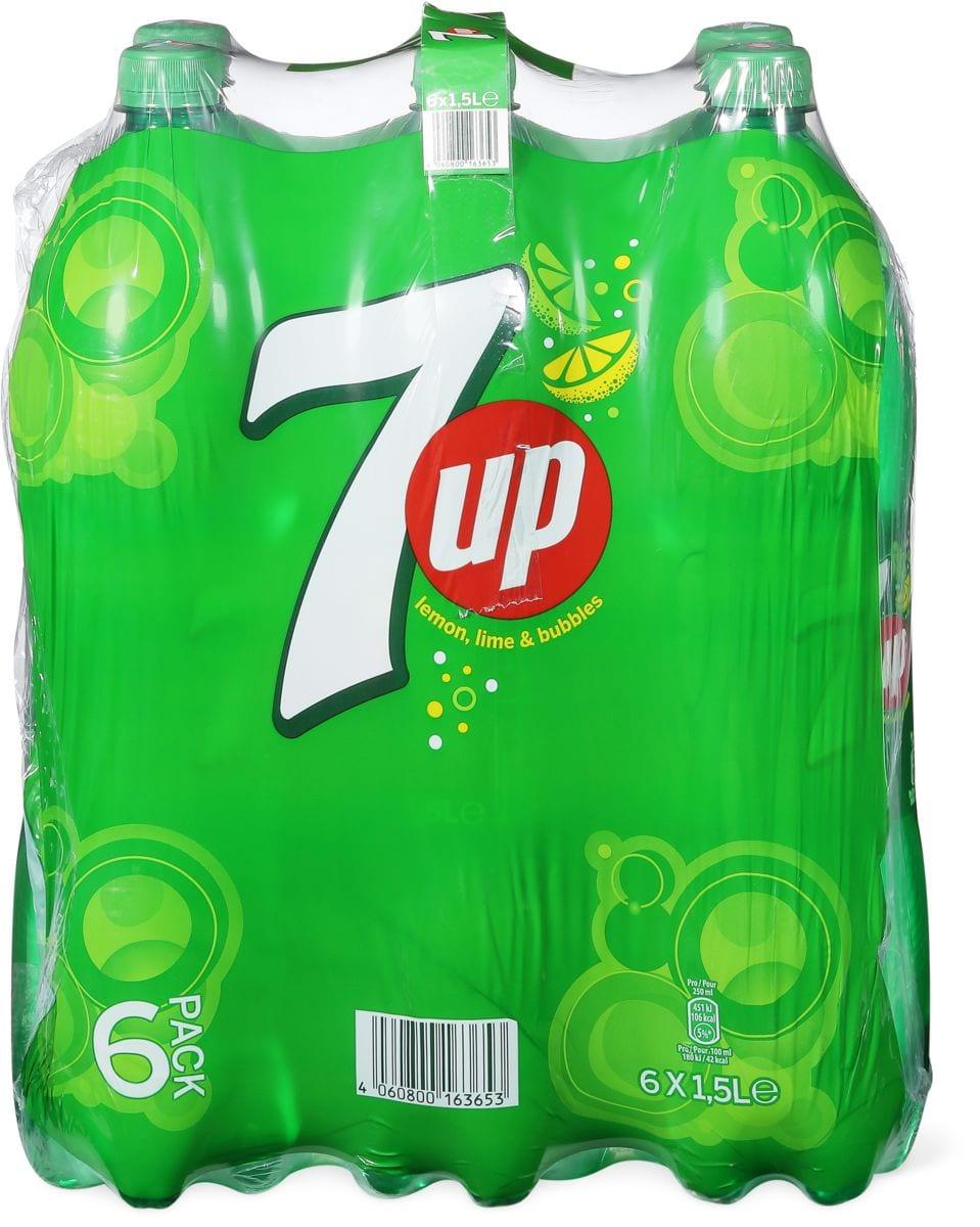 Alle 7up und H2Oh! Zitrone-Limette im 6er-Pack, 6 x 1.5 Liter und 6 x 1 Liter