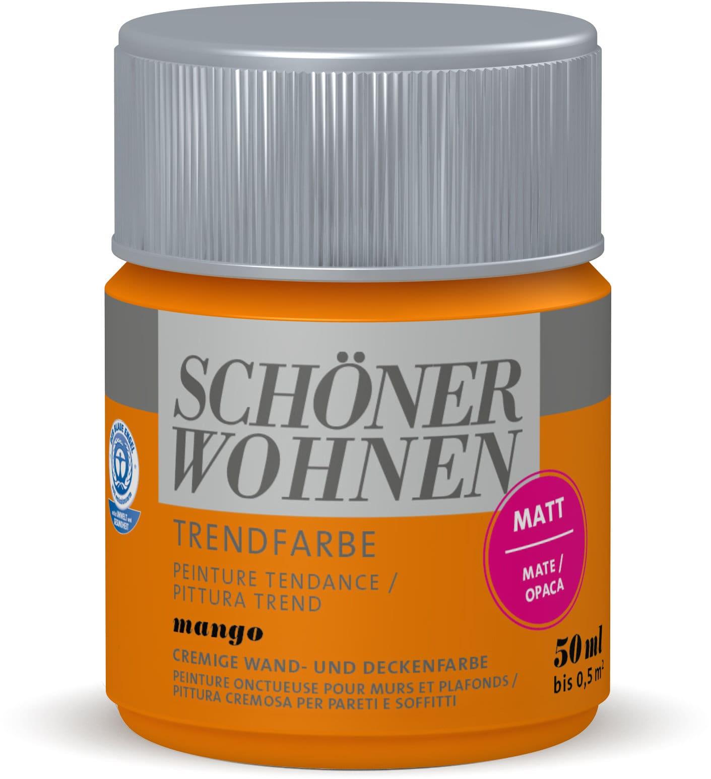Schöner Wohnen Testeur de couleur tendance Mangue 50 ml