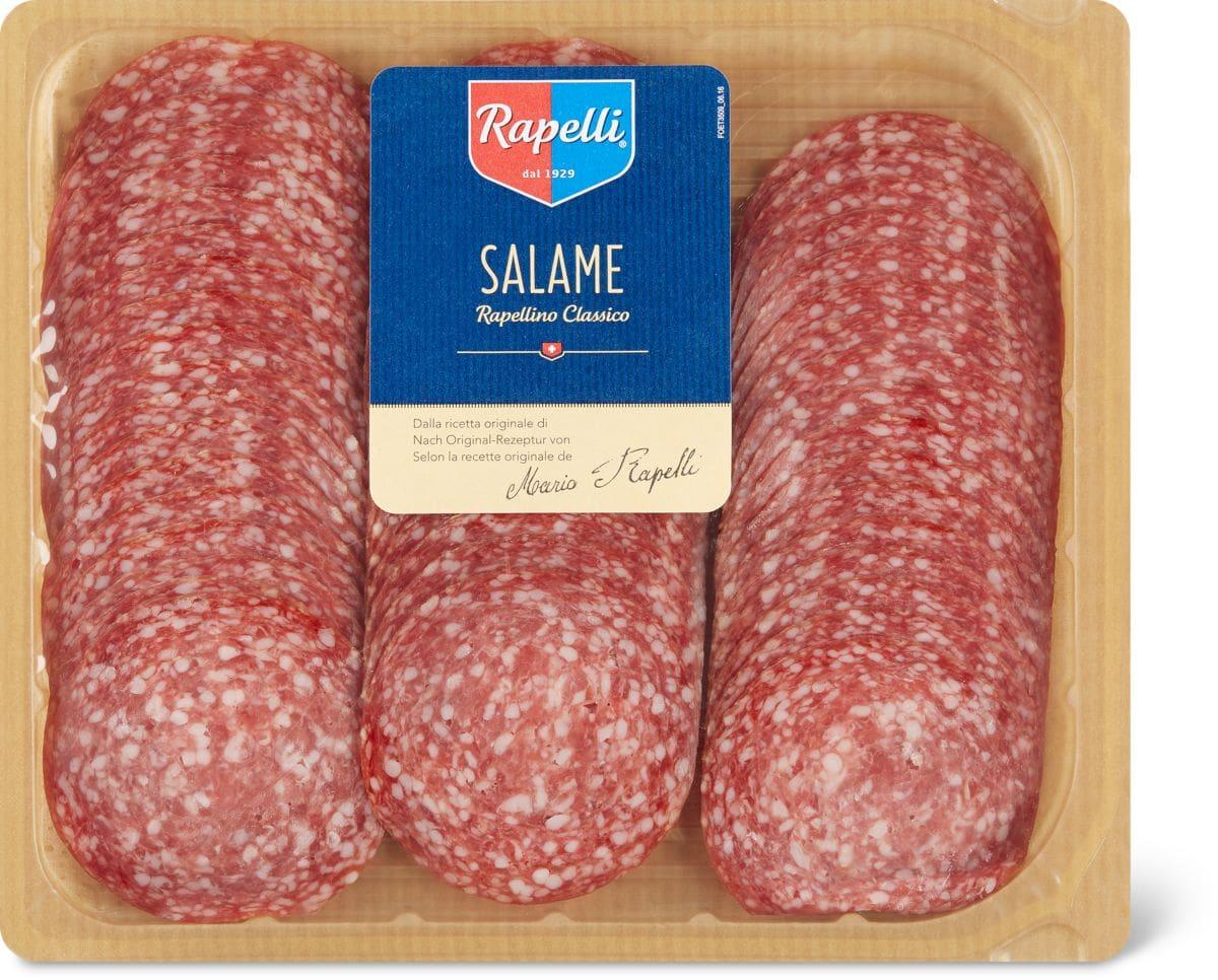 Rapelli Salami Classico ganz (ca. 800 g) und geschnitten in Sonderpackung