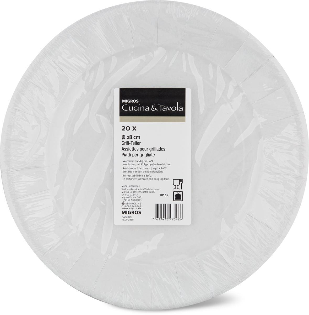 Cucina & Tavola Grill-Teller, 20 Stück