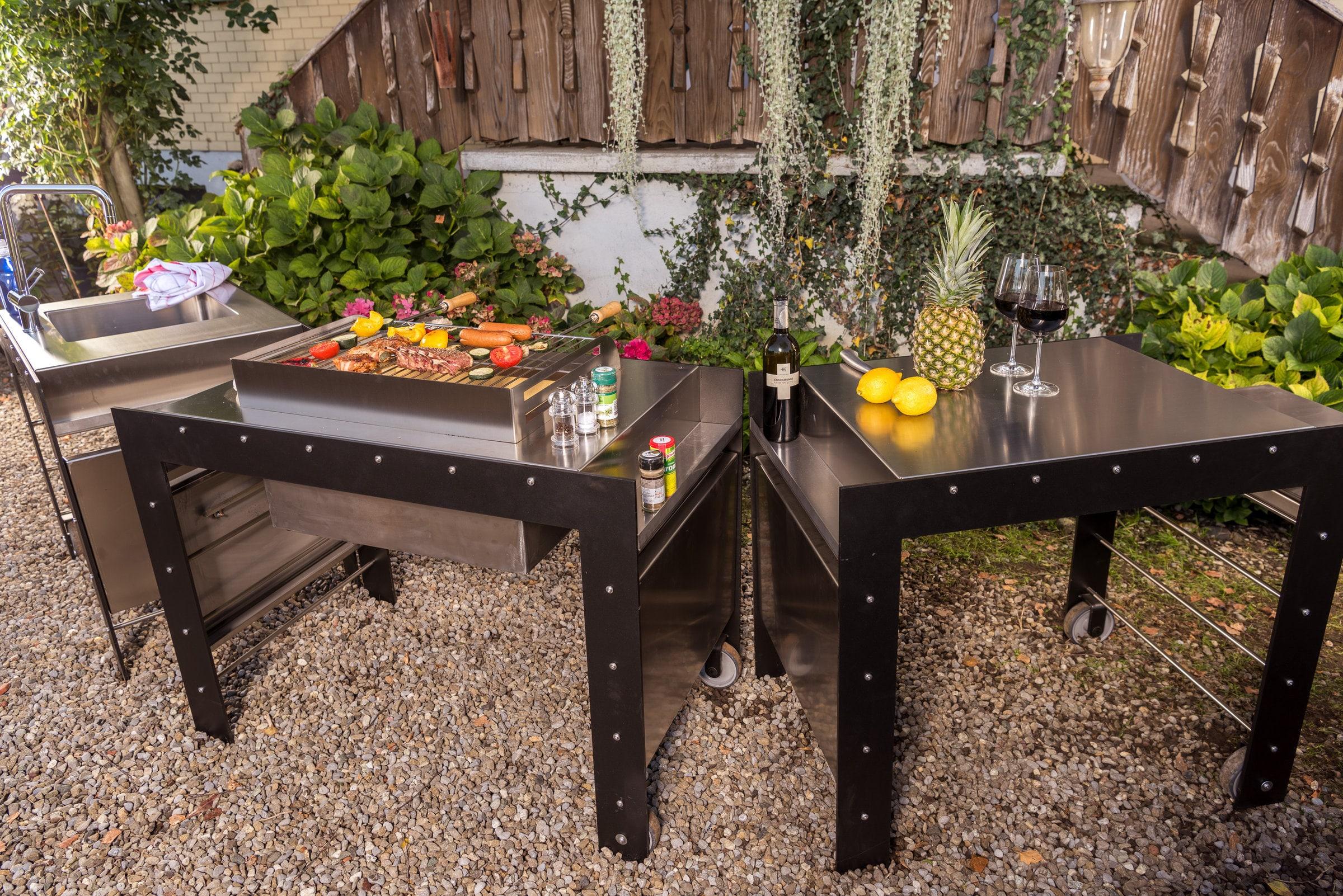 Outdoor Küche Ohne Wasseranschluss : Nouvel waschbecken outdoorküche modulo migipedia