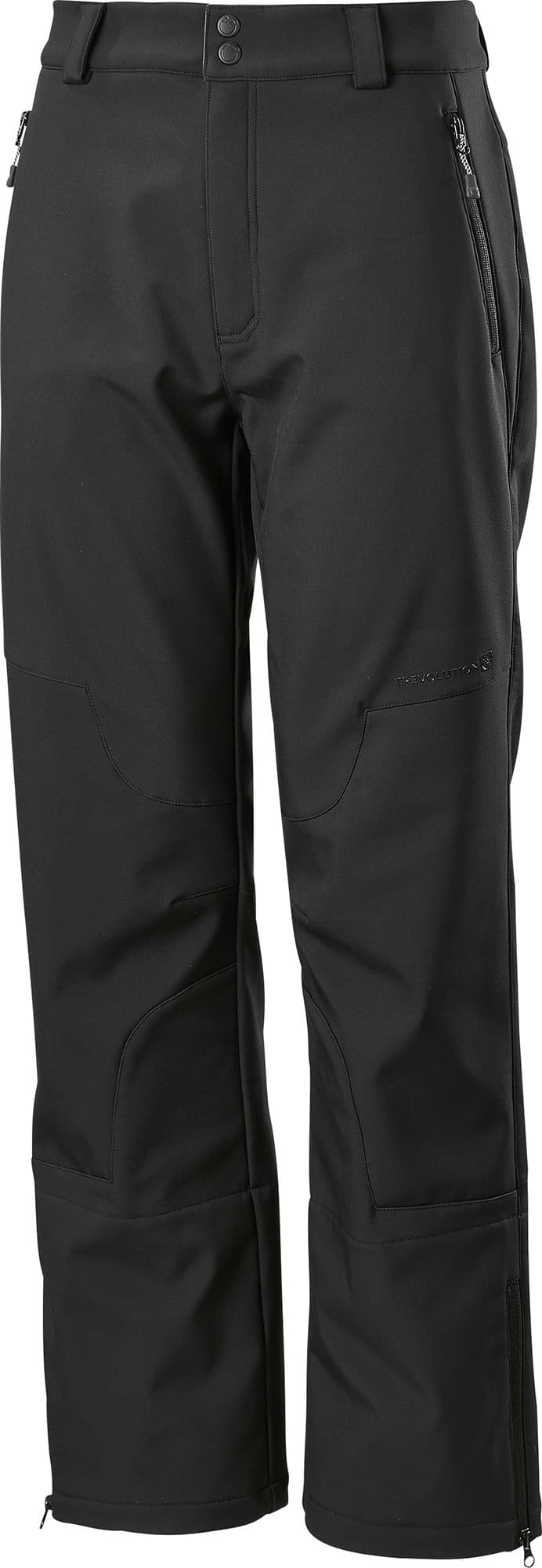 Trevolution Pantalon softshell coupé court pour homme Taille courte