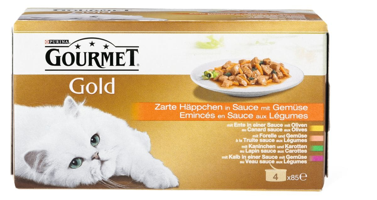 Gourmet Gold Häppchen mit Gemüse