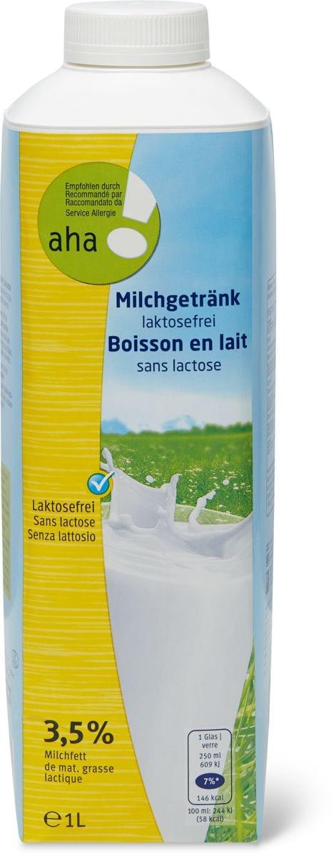 Boisson au lait exempt lactose aha!