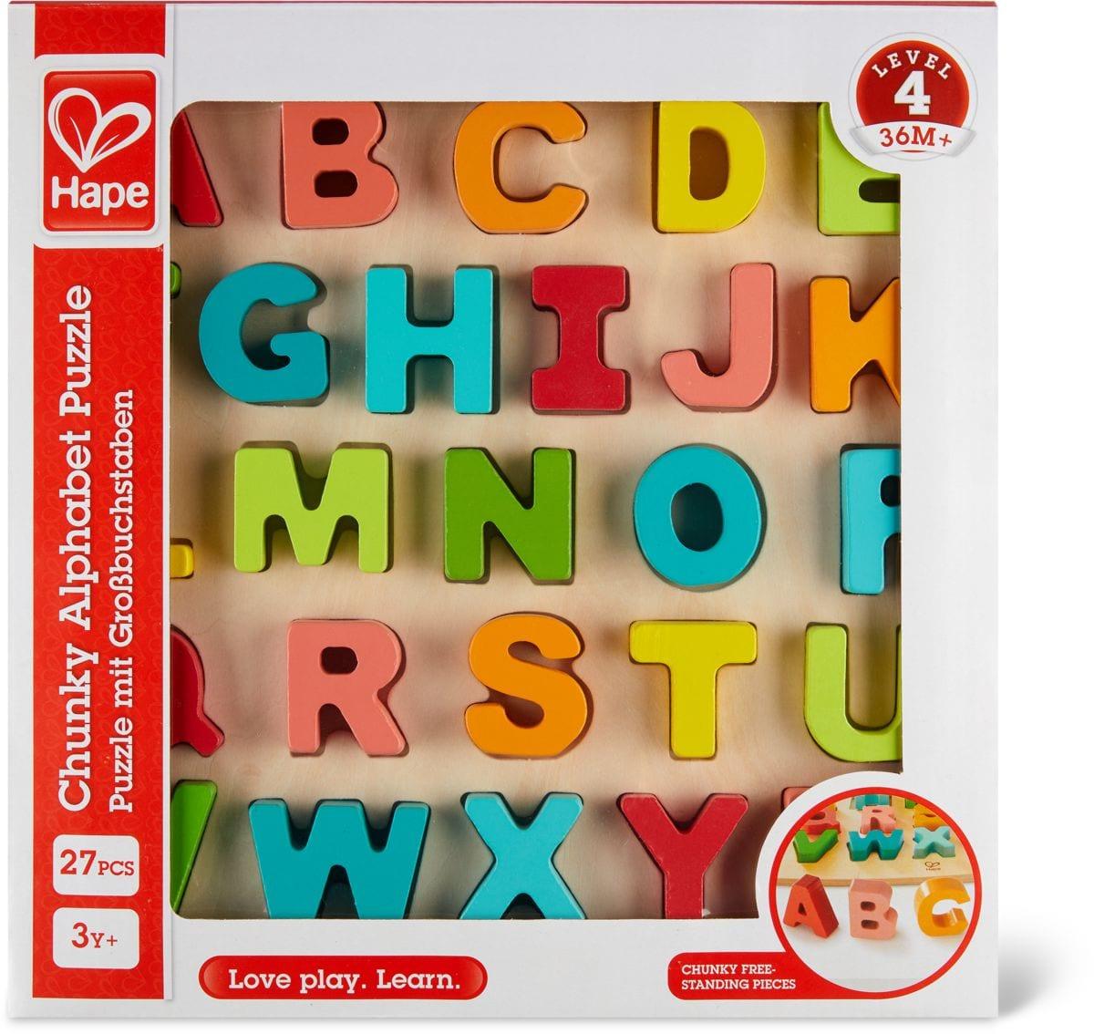 Puzzle À Grosses Pièces - Alphabet