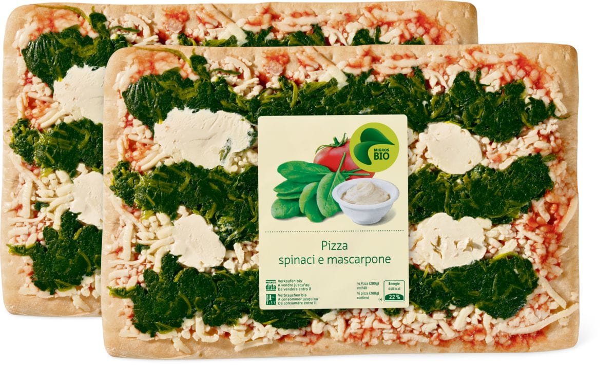 Bio Pizza spinaci e mascarpone