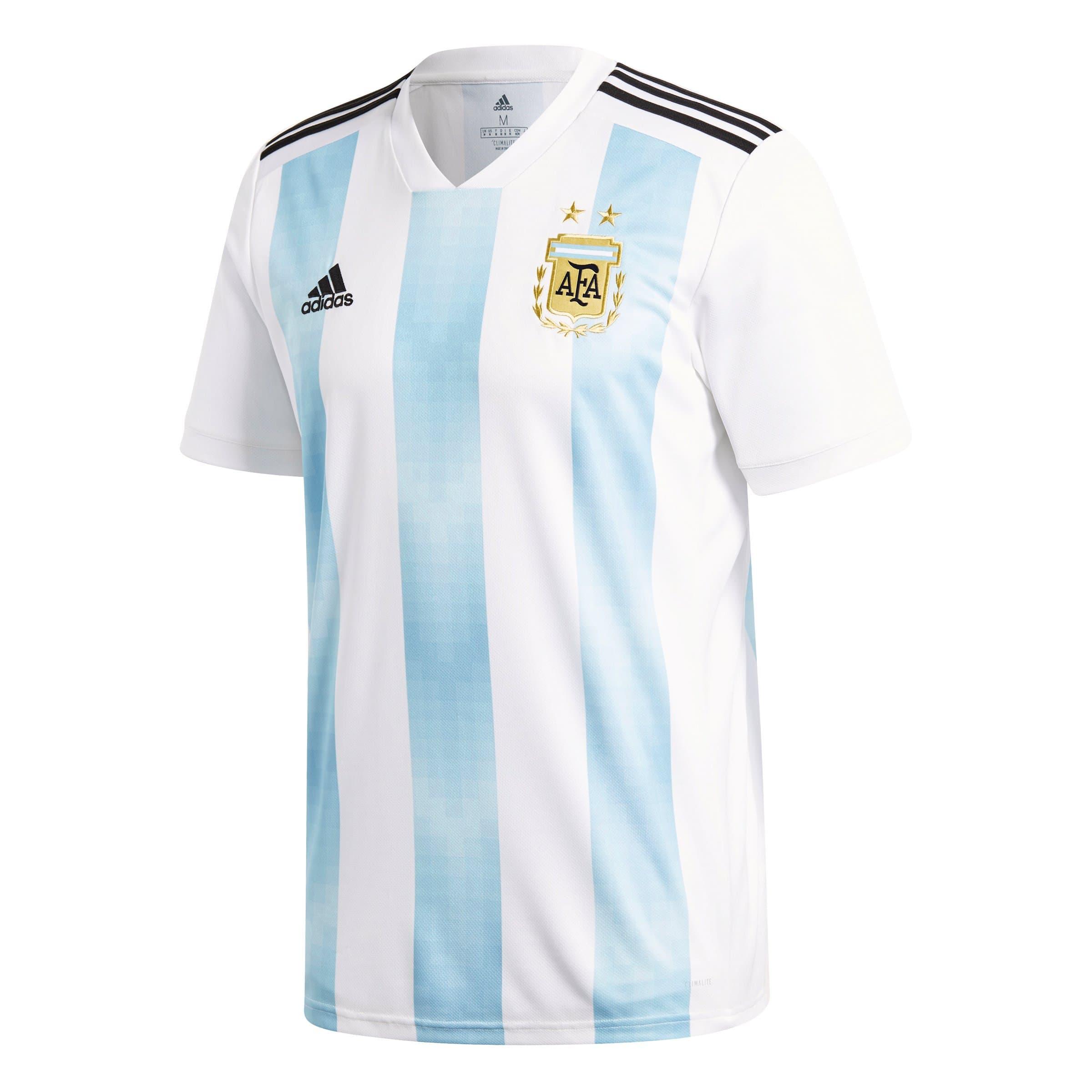 Adidas Argentina Home Jersey Riproduzione della maglietta della nazionale di calcio argentina