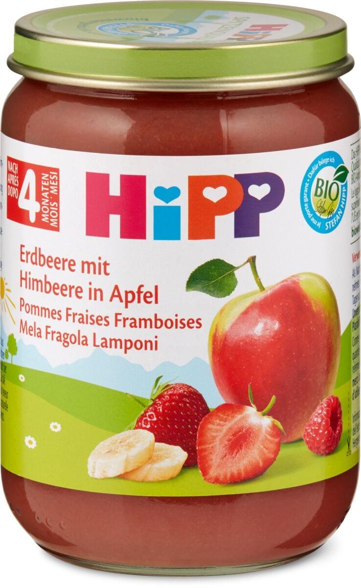 Hipp Erdbeere Himbeere in Apfel
