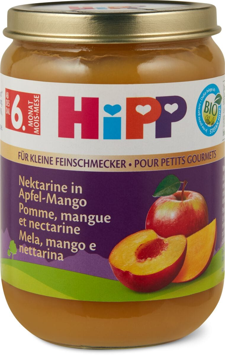 Hipp Nektarine in Apfel Mango