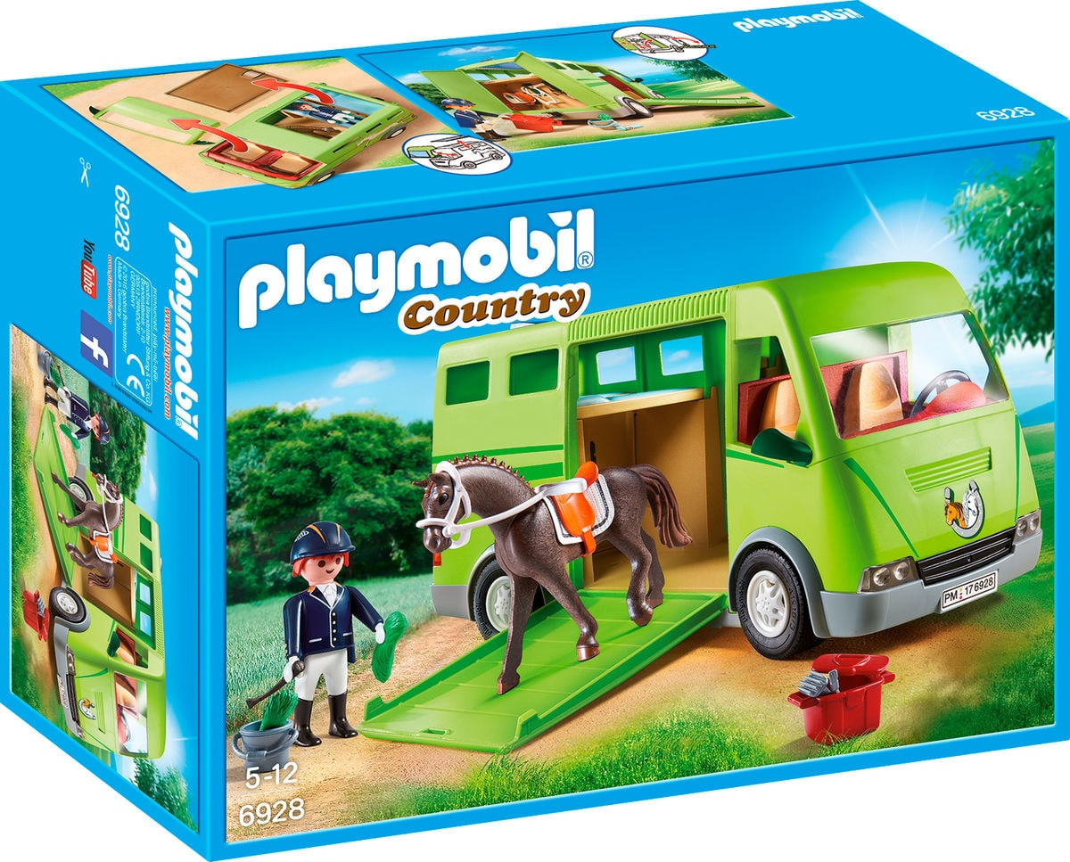 Playmobil Country Furgone trasporto cavalli 6928