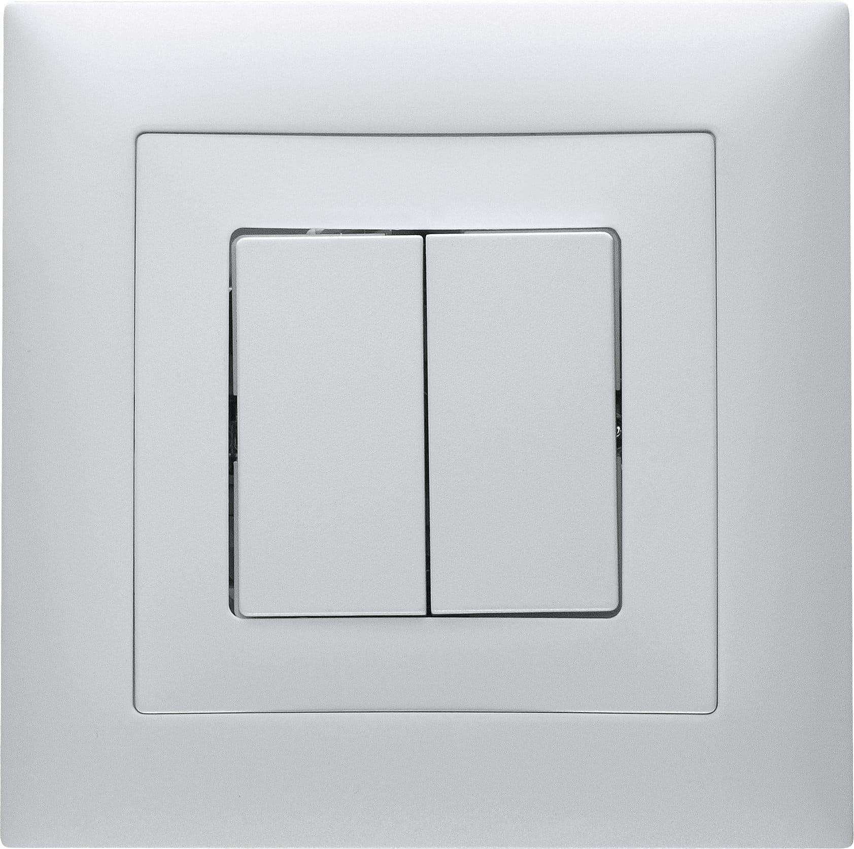Feller Edizio Due Interrupteure à encastrer SCH1(3+3)