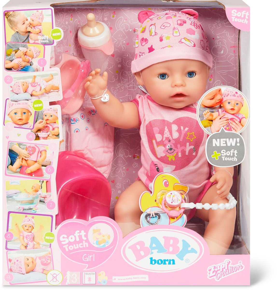Zapf Creation Baby Born Soft Touch Girl, 43cm Puppe