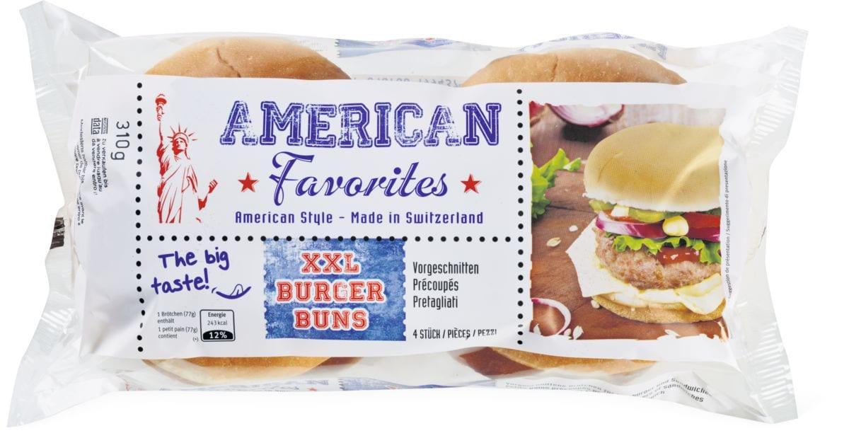 American Favorites XXL Buns précoupés