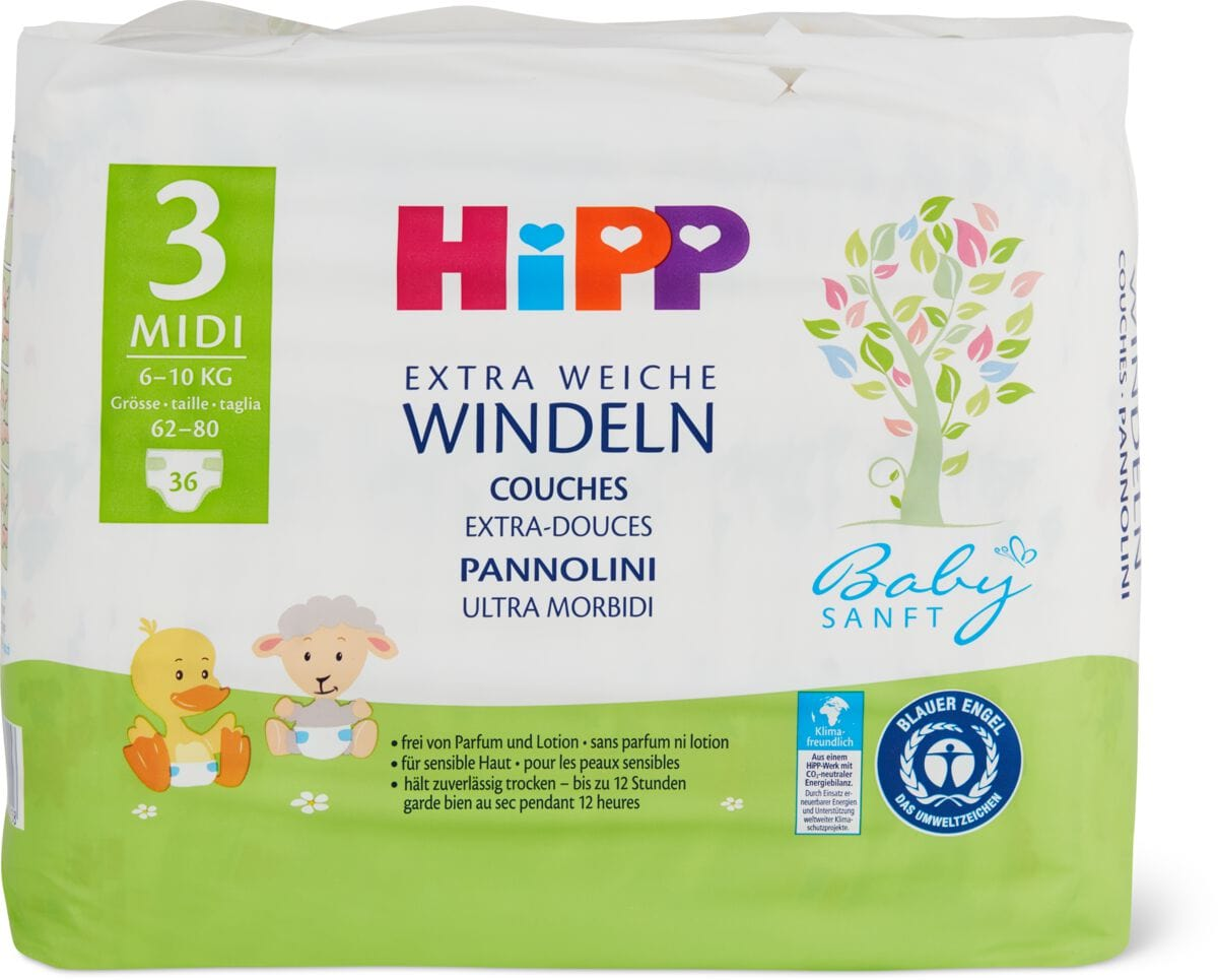 Hipp Babysanft Windeln Midi 3