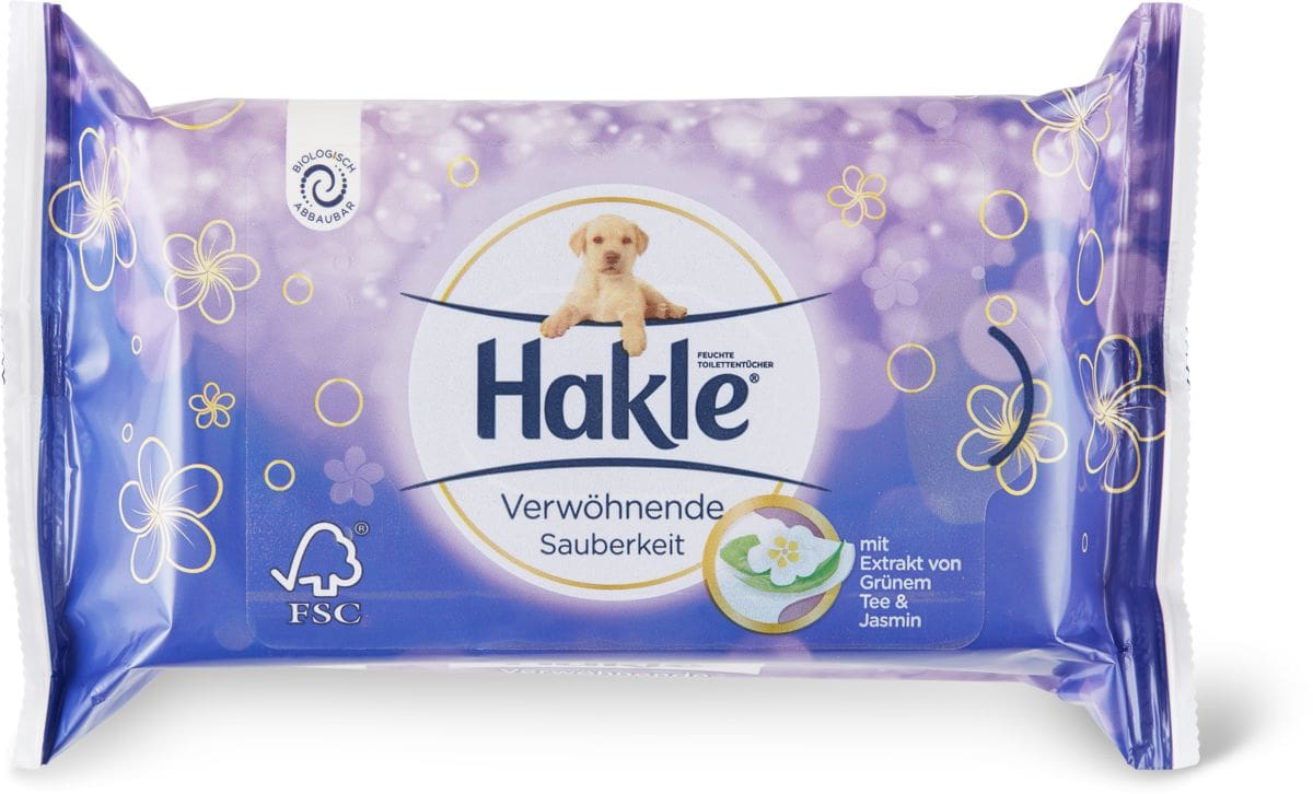 Hakle Prop.moelleuse Lingettes imprégnées