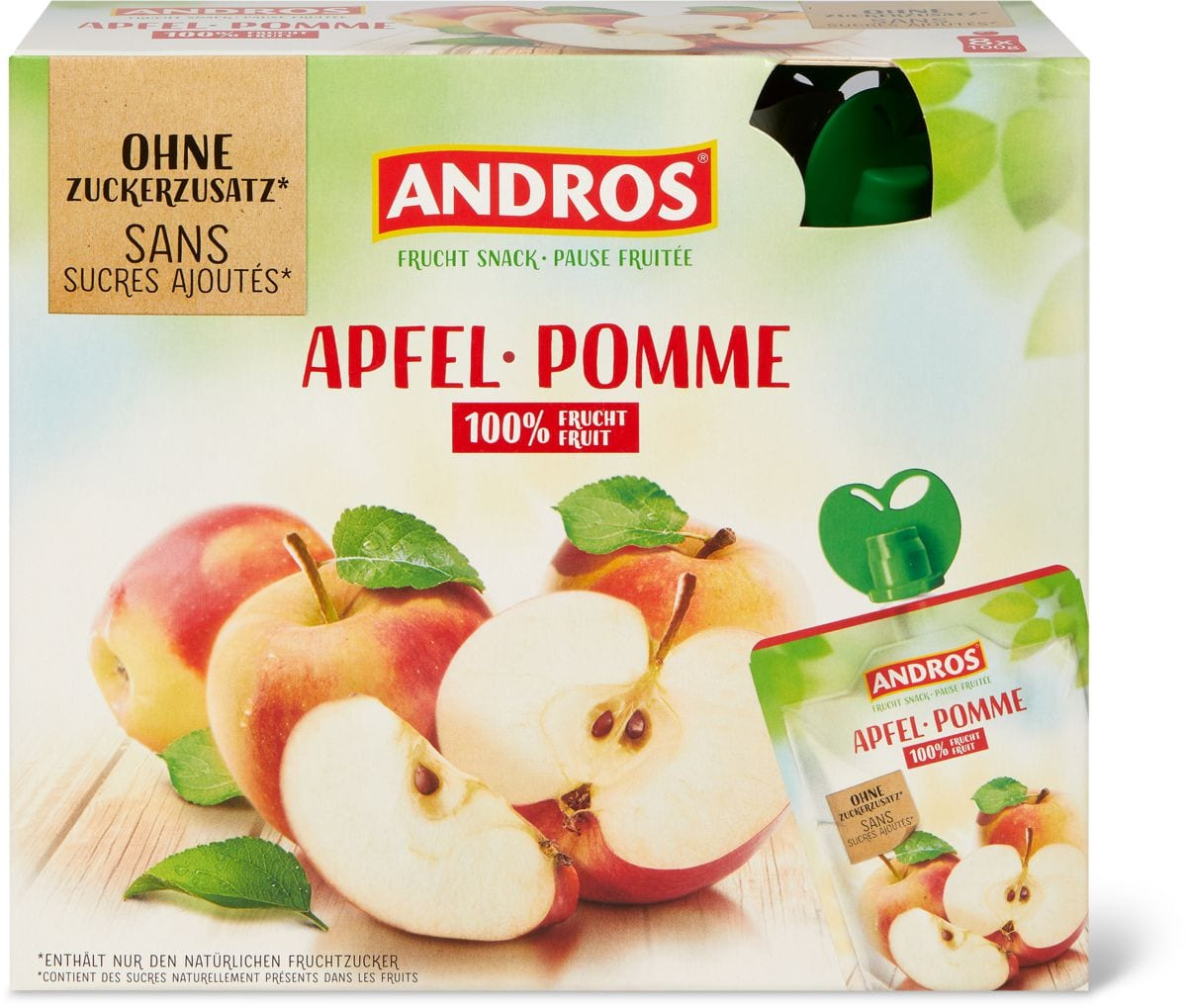 Andros bag pomme nat. 0%