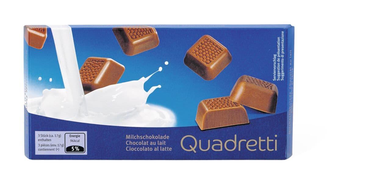 Quadretti Cioccolato al latte