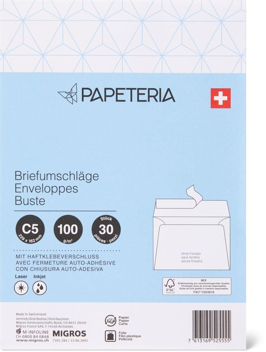 Papeteria C5 Briefumschläge ohne Fenster