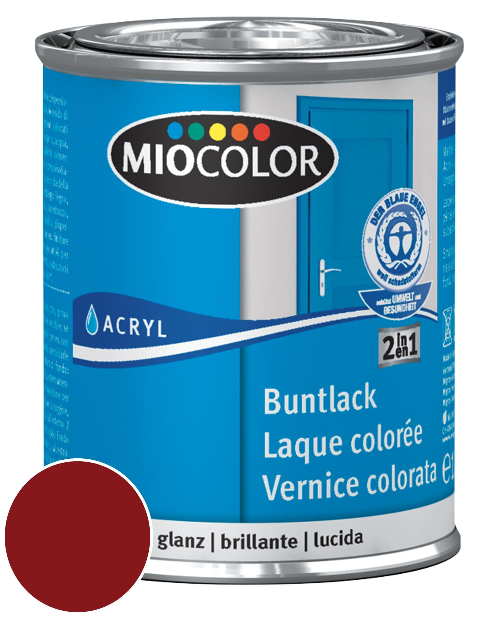 Miocolor Acryl Vernice colorata lucida Rosso vino 125 ml