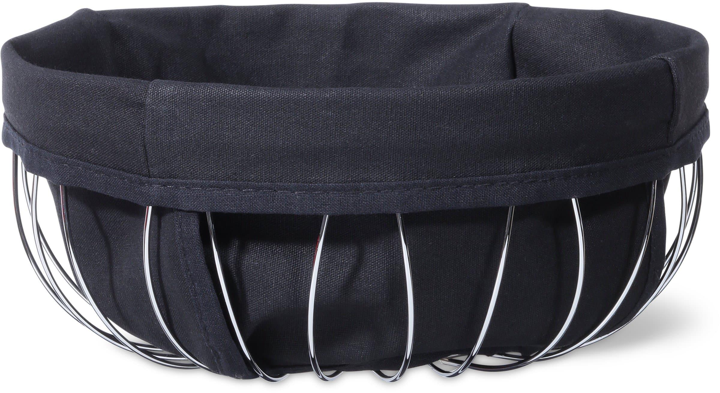 Cucina & Tavola Cesto bordato con fascia in stoffa