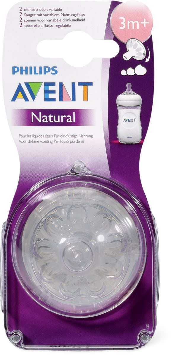 Avent 2 Sauger Natural Vario 3m+
