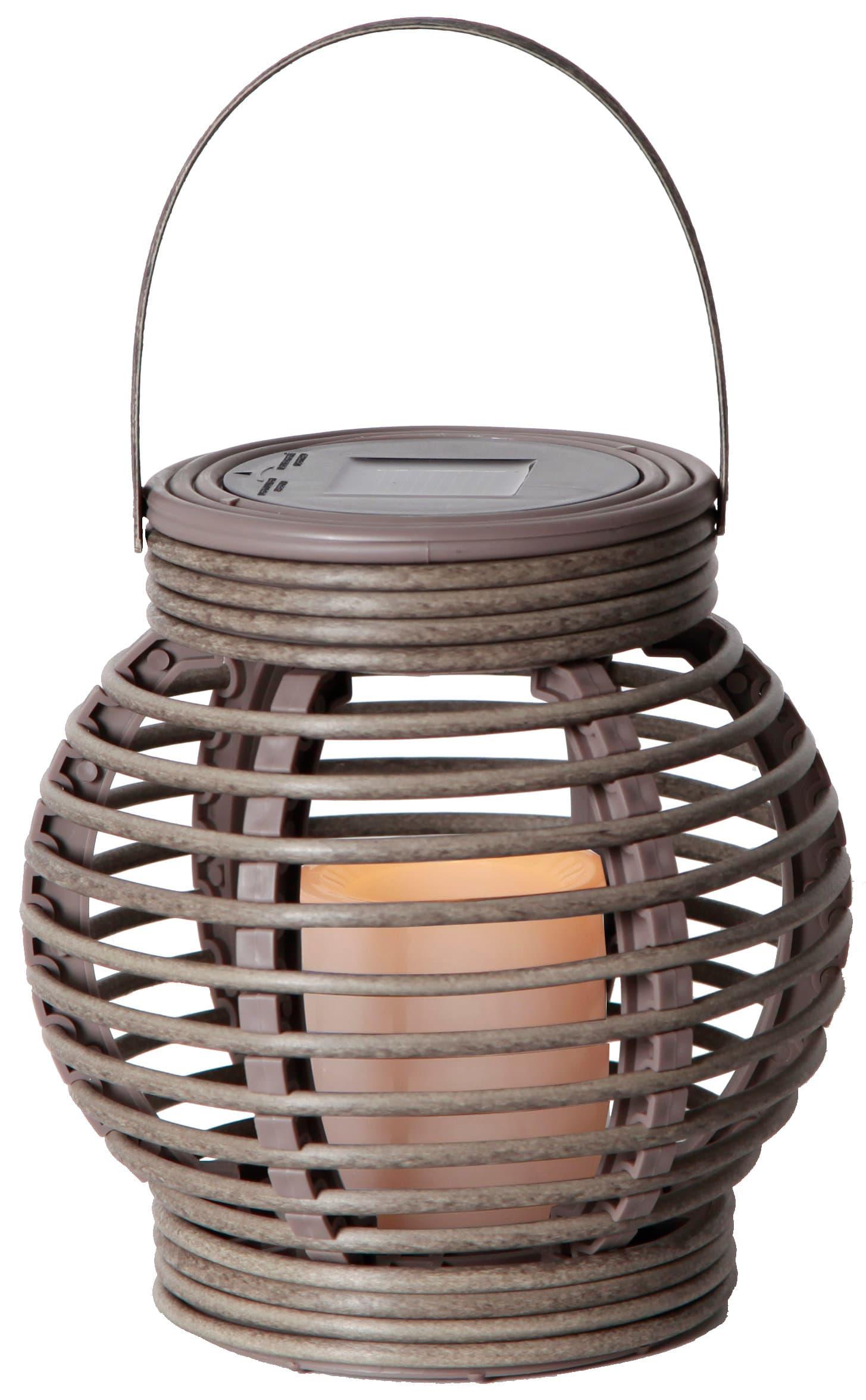 Star Trading Lampe solaire LED lantern brun