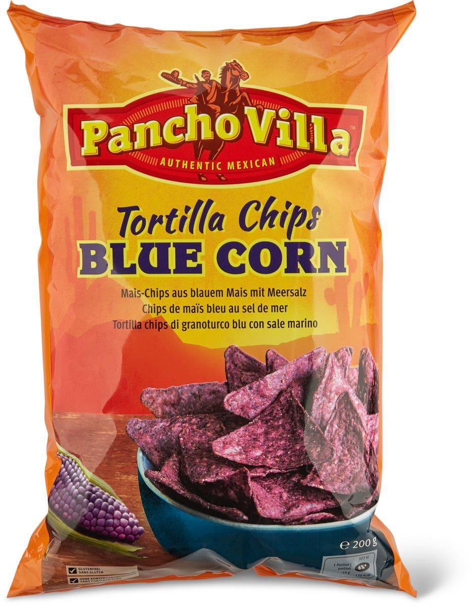 Pancho Villa chips Tortilla blue corn