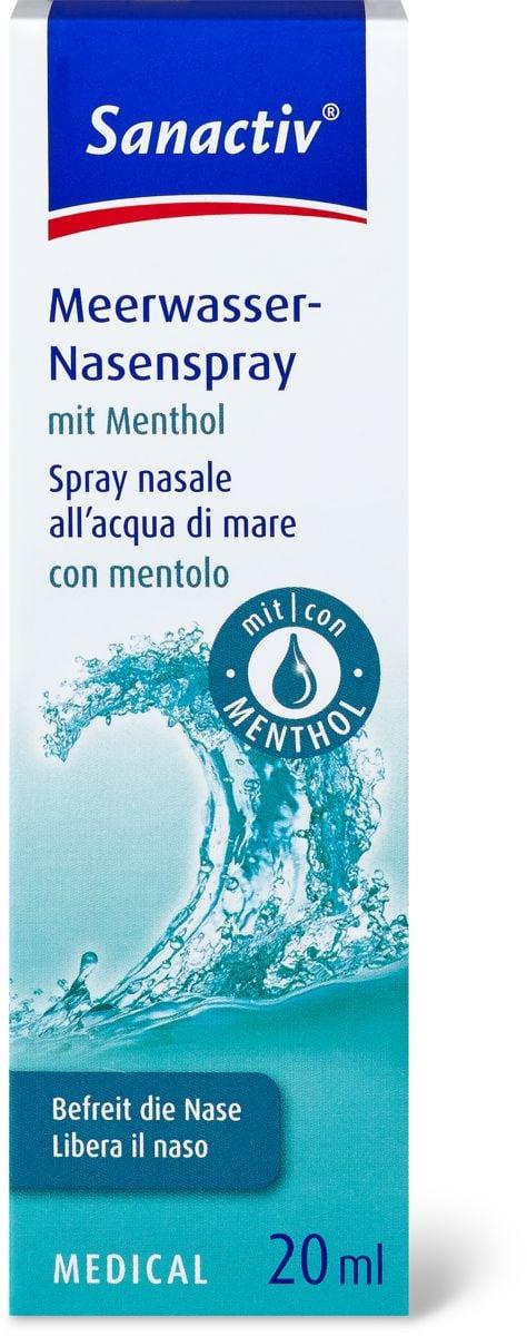 Spray nasal à l'eau de mer avec Menthol