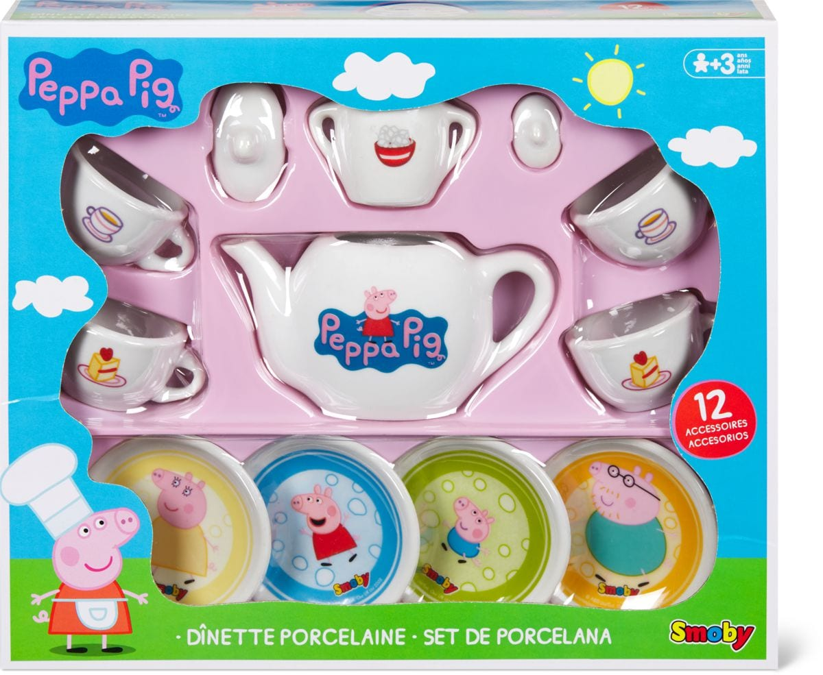 Smoby Peppa Pig Geschirrset Rollenspiel