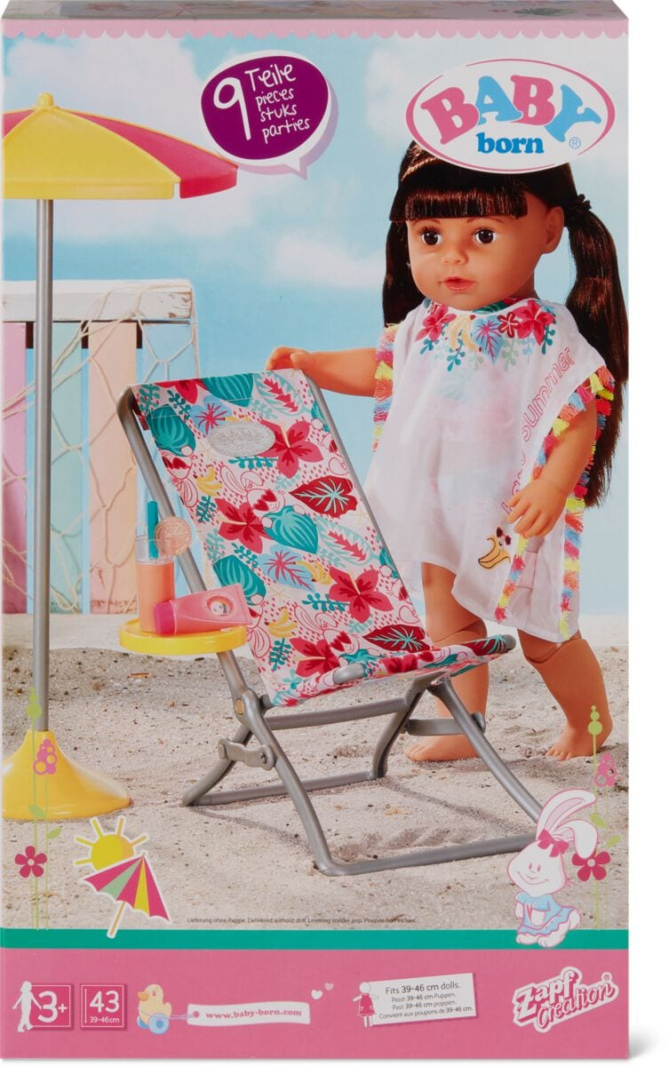 Zapf Creation Baby Born Holiday Kit Bambole accessori