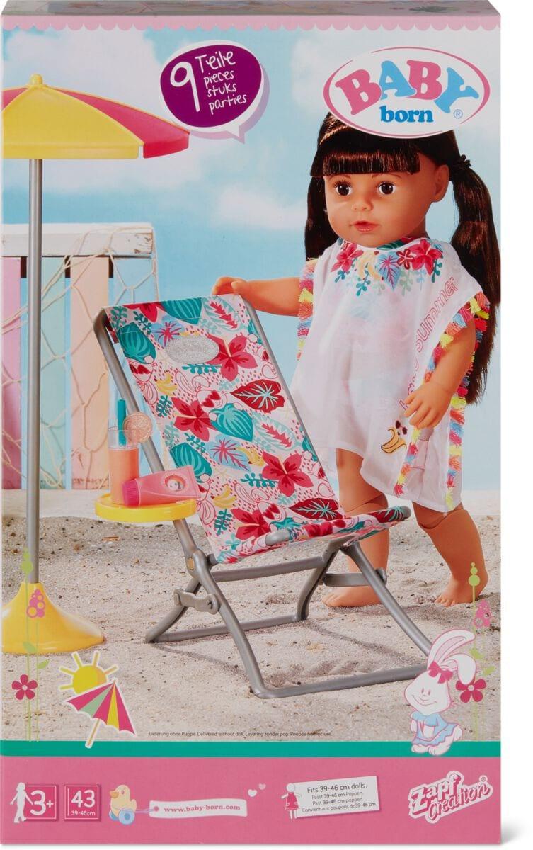 Zapf Creation Baby Born Holiday Liegestuhl-Set Puppenzubehör