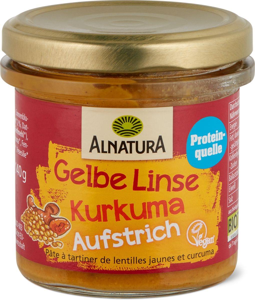 ALNATURA AUFSTRICH GELBE LINSE KURKUMA