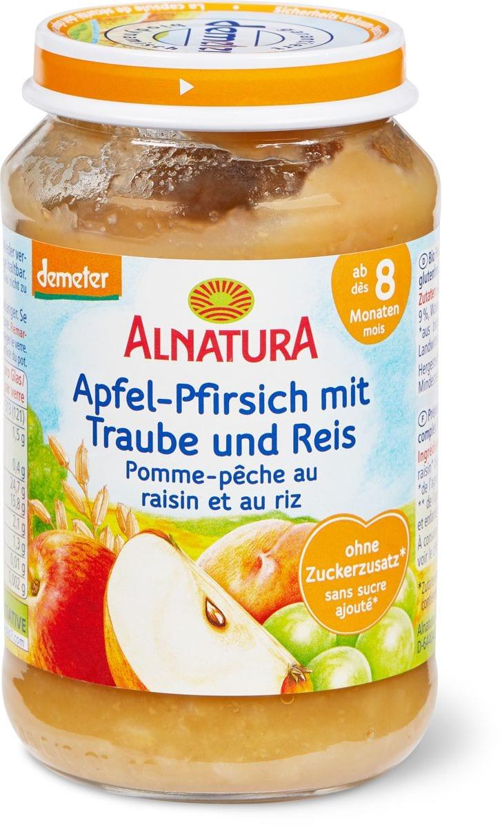 Alnatura Apfel-Pfirsich mit Traube und Reis