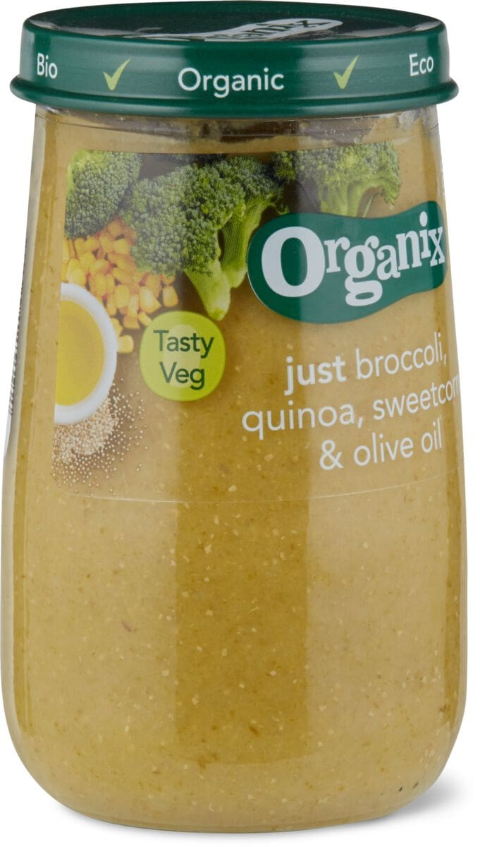 Organix Brokkoli, Mais, Quinoa