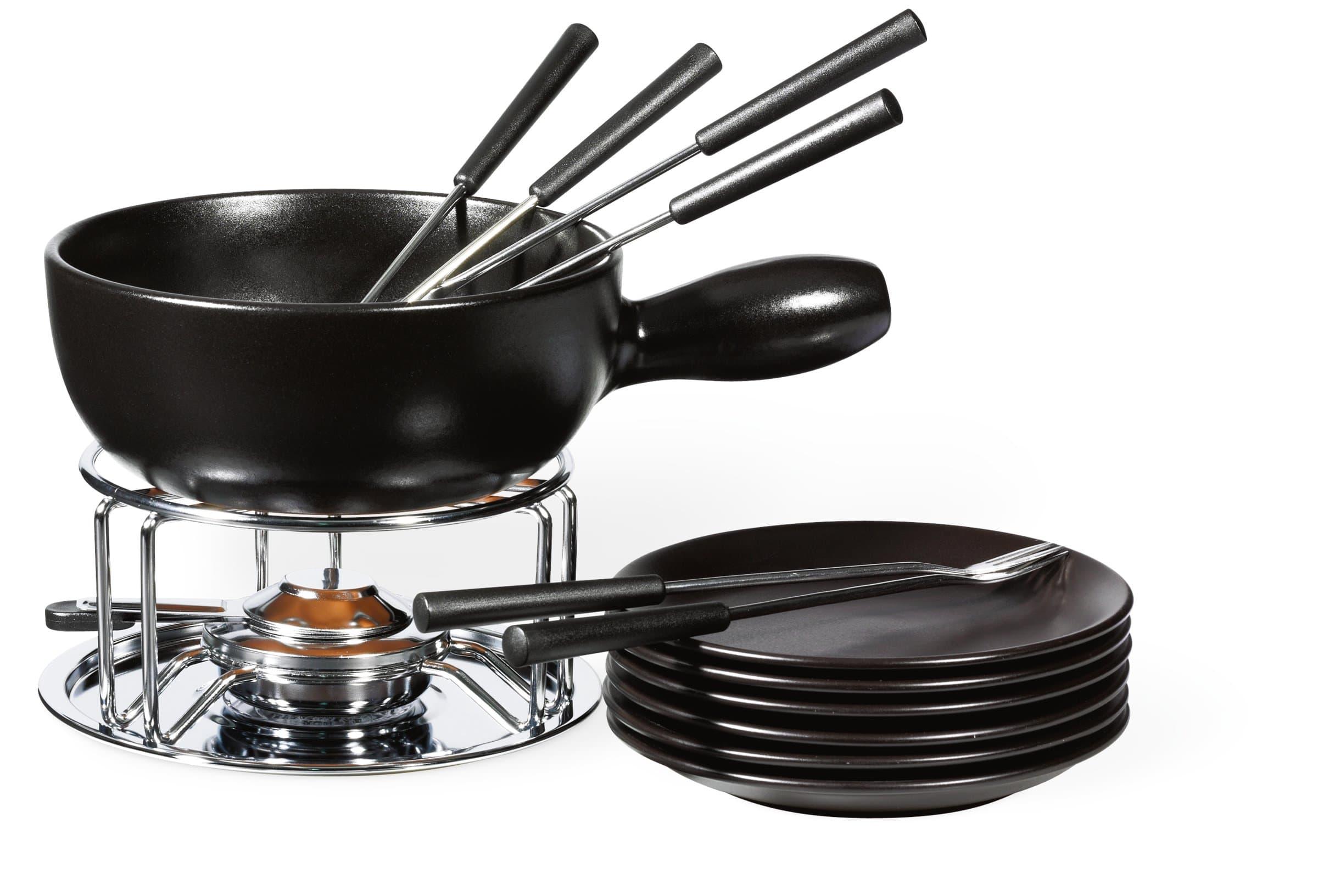 cucina tavola noir k se fondue set migros. Black Bedroom Furniture Sets. Home Design Ideas