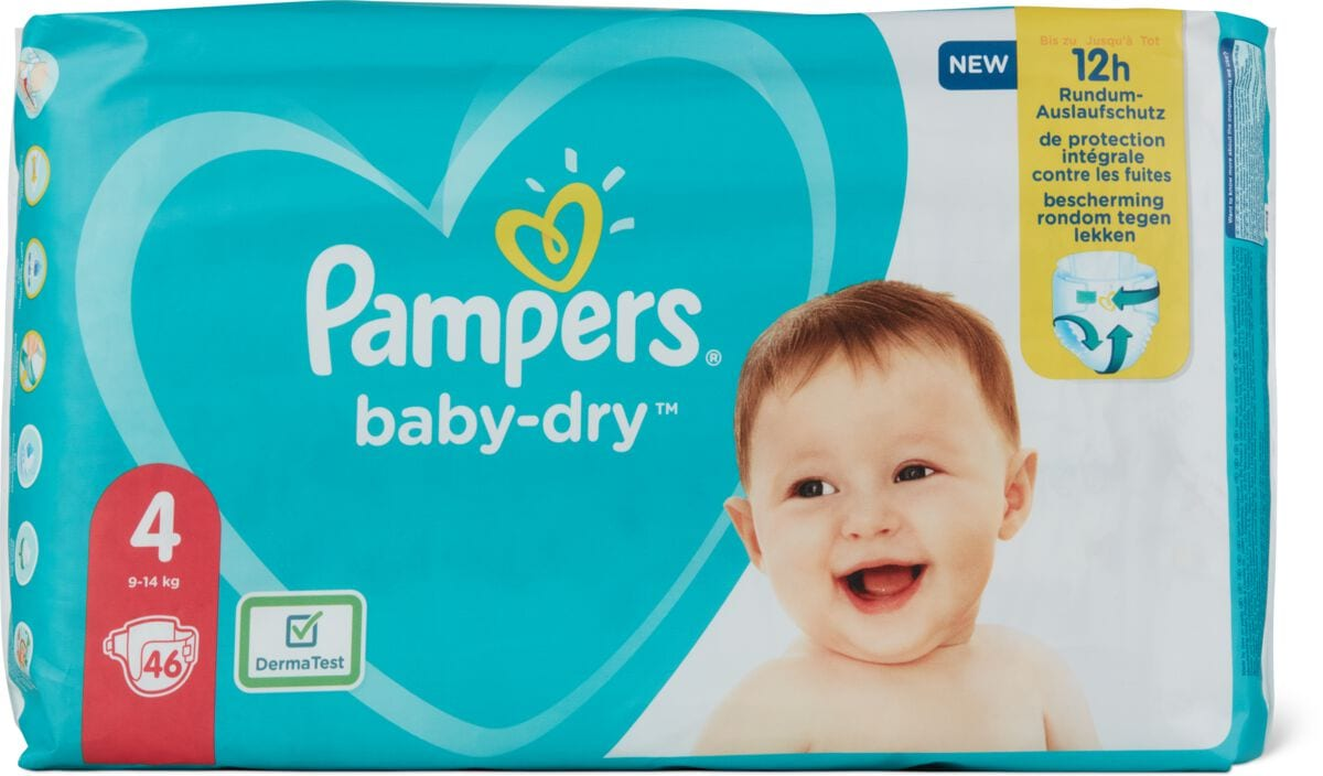 Pampers Pampers Baby Dry Gr. 4, Maxi 9-14kg