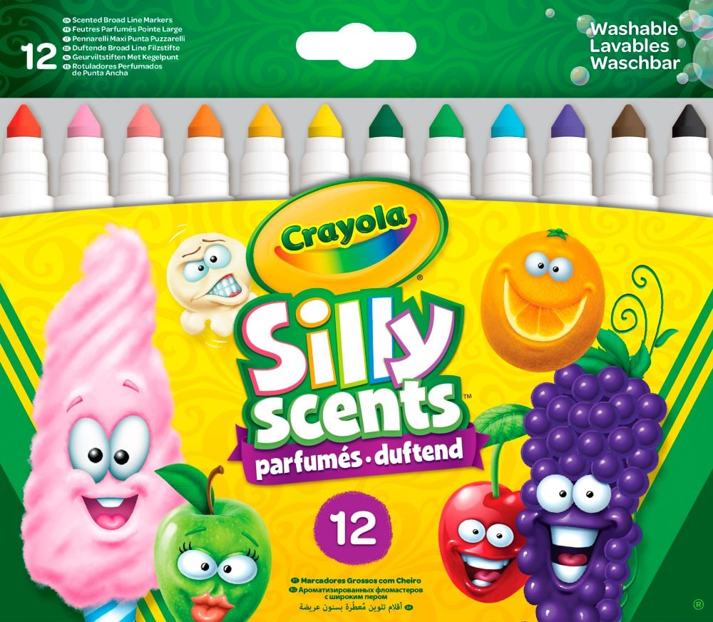 Crayola Silly Scents 12 pennarellos spes.