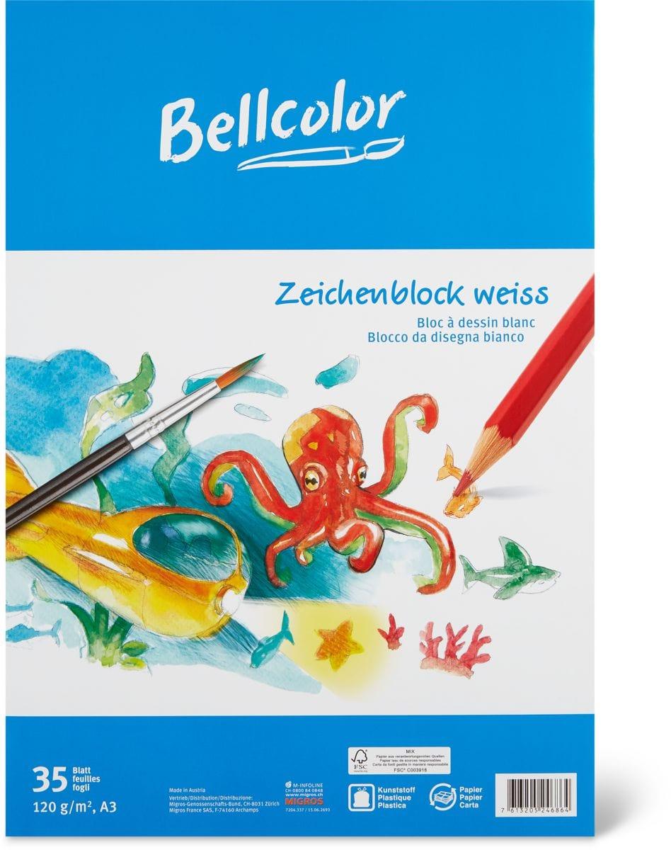 Bellcolor Bellcolor Bloc à dessin blanc A3