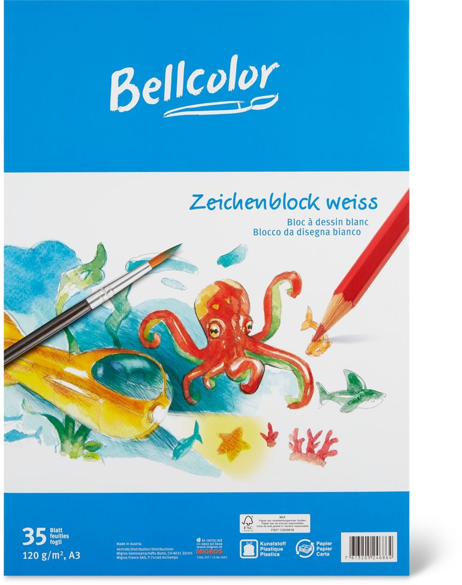 Bellcolor Bellcolor Zeichenblock weiss A3