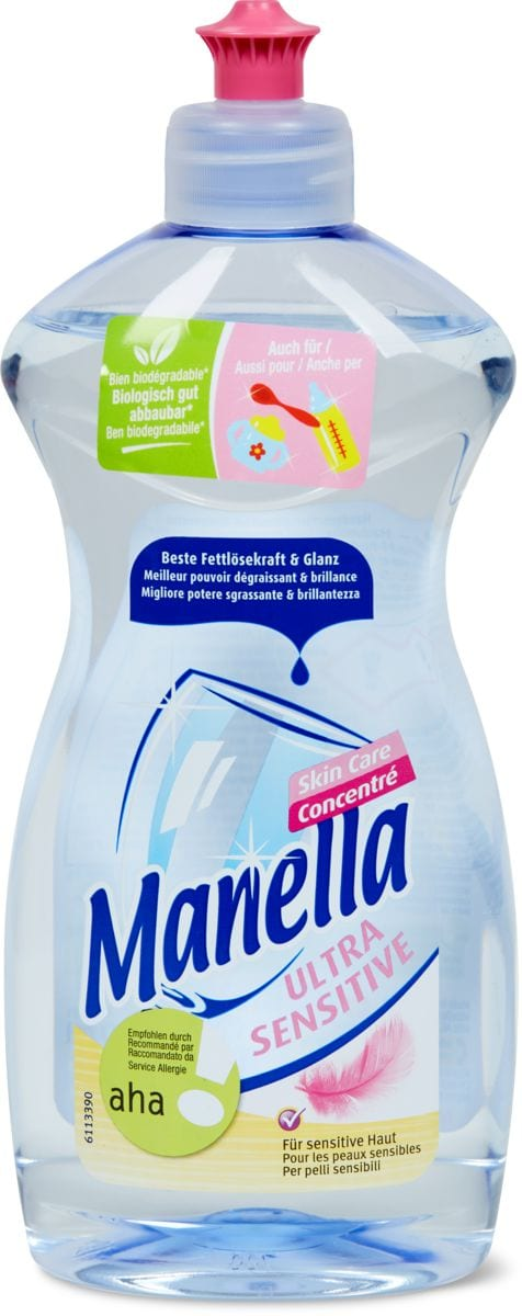 Manella Ultra Sensitive aha! Skin Care detersivo per rigovernare