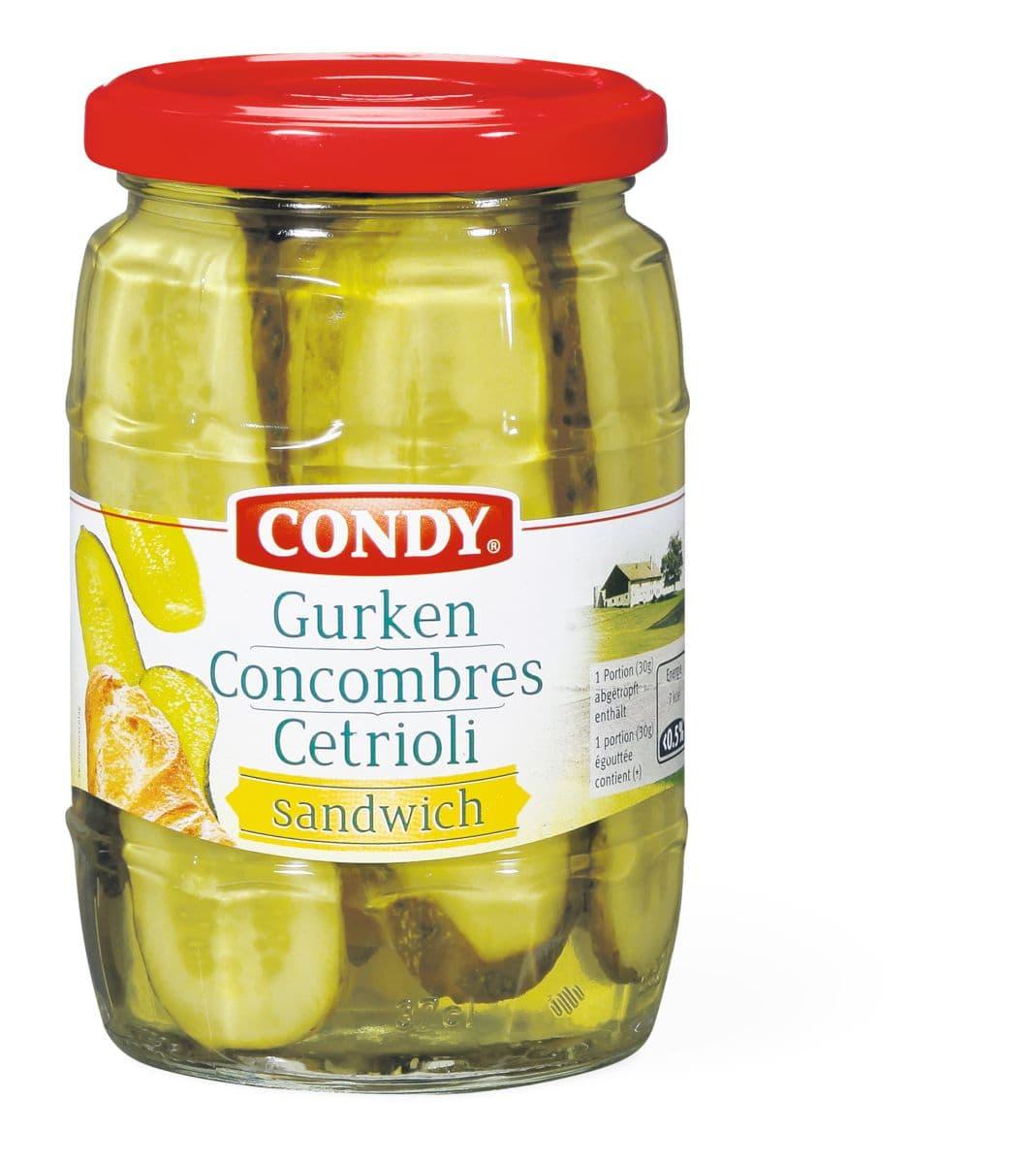 Condy Gurken-Sandwich